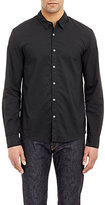 James Perse Men's Washed Voile Shirt-BLACK