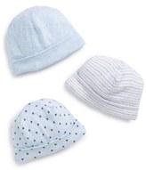 Nordstrom Infant 3-Pack Hats - Blue