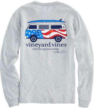 Vineyard Vines USA Bus & Board Long-Sleeve Tee