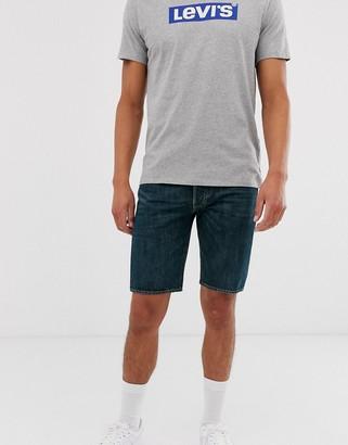 Levi's 501 hemmed denim shorts-Blue
