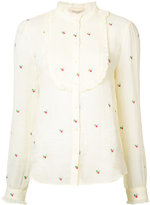 Vanessa Bruno floral frill trim blouse - women - Ramie - 40