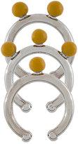 Marni set of 3 glazed sphere rings