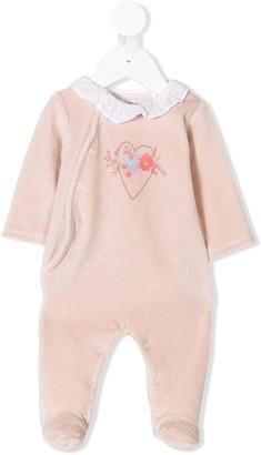 Knot Flower Heart babygrow