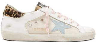 Golden Goose Superstar Leather And Canvas Trainers - Womens - White Multi