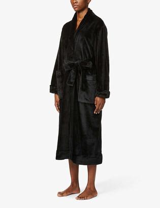 Skin Winna shawl-lapel plush robe