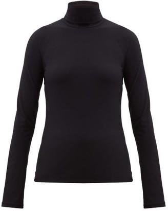 Jil Sander Roll-neck Stretch-jersey Top - Black
