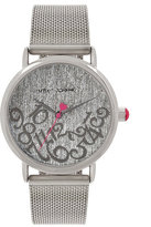 Betsey Johnson All Mixed Up Silver Mesh Watch