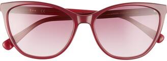Longchamp Le Pliage 57mm Gradient Cat Eye Sunglasses
