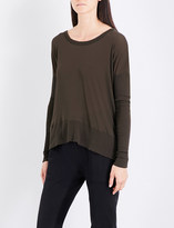 James Perse Oversized cotton-jersey top
