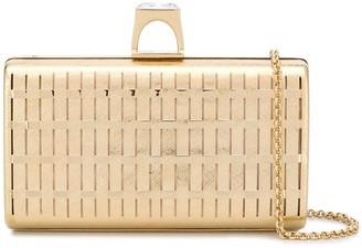 Casadei rectangular woven clutch bag