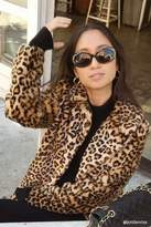 Forever 21 Leopard Print Faux Fur Coat