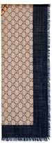 Gucci Men's Tiger Web Wool Stole Scarf