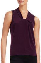 Calvin Klein Twist Front Sleeveless Top