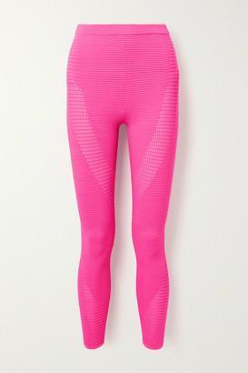Adam Selman Sport Ribbed Stretch-knit Leggings - Bright pink