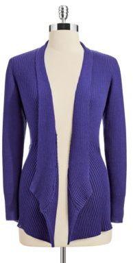 Eileen Fisher WOMENS Plus Flyaway Textured Wool Cardigan