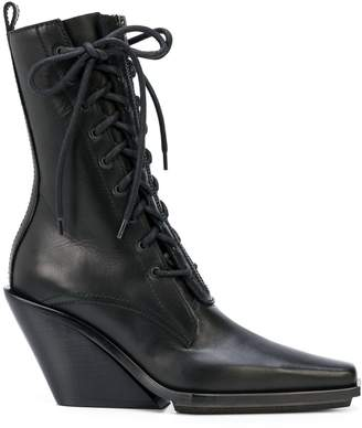 Ann Demeulemeester pointed lace-up ankle boots
