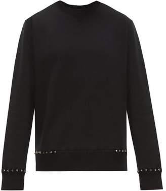 Valentino Rockstud Cotton Blend Sweater - Mens - Black