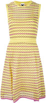 M Missoni panel patterned dress - women - Cotton/Polyamide/Metallic Fibre - 38