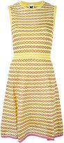 M Missoni panel patterned dress - women - Cotton/Polyamide/Metallic Fibre - 42