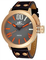 Adee Kaye Men's AK7285-MRG Analog Display Japanese Quartz Black Watch