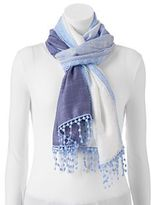 Apt. 9 Dip-Dyed Crocheted Oblong Scarf
