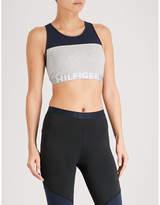 Tommy Hilfiger Logo-detail stretch-cotton sports bralette