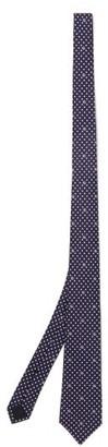 Gucci GG Polka Dot-print Silk Tie - Blue Multi