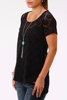 Roper Black Lace T-Shirt