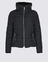 M&S Collection PETITE Down & Feather Padded Jacket with StormwearTM