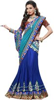 Simaaya Fashions Pvt Ltd Indian Etnic Bollywood Wedding Georgette Blue Designer Lehenga Sarees