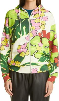 Dries Van Noten Hurley Floral Zip Cotton Hoodie