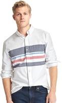 Gap Oxford chest-stripe standard fit shirt