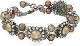 "Liz Palacios Perlas"" Swarovski Crystal and Pearl Bracelet"