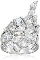 Judith Jack Sterling Silver/Swarovski Marcasite Cubic Zirconia Cluster Ring, Size 7