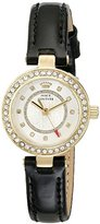 Juicy Couture Women's 1901248 Luxe Couture Analog Display Quartz Black Watch