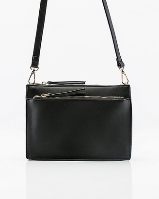 Le Château Pebbled Faux Leather Crossbody Bag