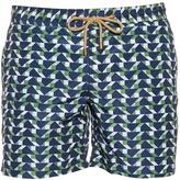 THORSUN Blocks-print swim shorts