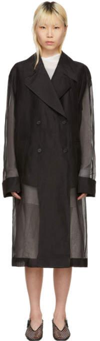 Yang Li Black Double-Breasted Coat
