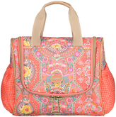 Oilily Coral Floral Toiletry Bag