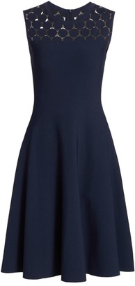Akris Punto Polka Dot Fit-&-Flare Dress
