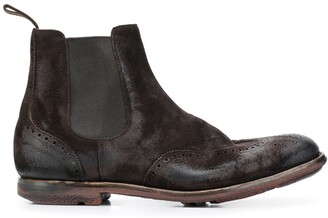 Church's burnished suede Chelsea boots
