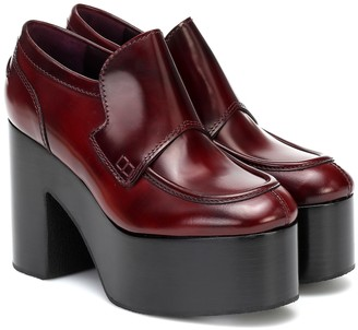Dries Van Noten Platform leather loafers