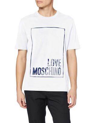 Love Moschino Men's Regular Fit Short Sleeve T-Shirt_Logo Box Print