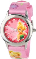 Disney Kids' W001032 Tinker Bell Glitz Stainless Steel Printed Strap Watch
