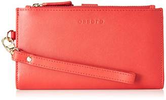 Essere Women's Genuine Leather Wristlet with detachable hand strap and multiple pockets -
