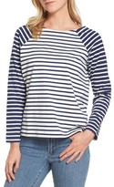 Vineyard Vines Women's Elbow Patch Mixed Stripe Top