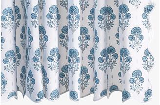 Matouk Joplin Shower Curtain - Mineral Blue