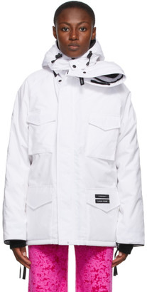 Y/Project SSENSE Exclusive White Canada Goose Edition Down Constable Parka