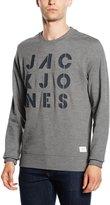 Jack and Jones Jack Jones Men's Dylan Crew Sweat L Grey