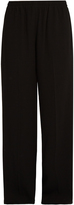 Vince High-waisted wide-leg crepe trousers